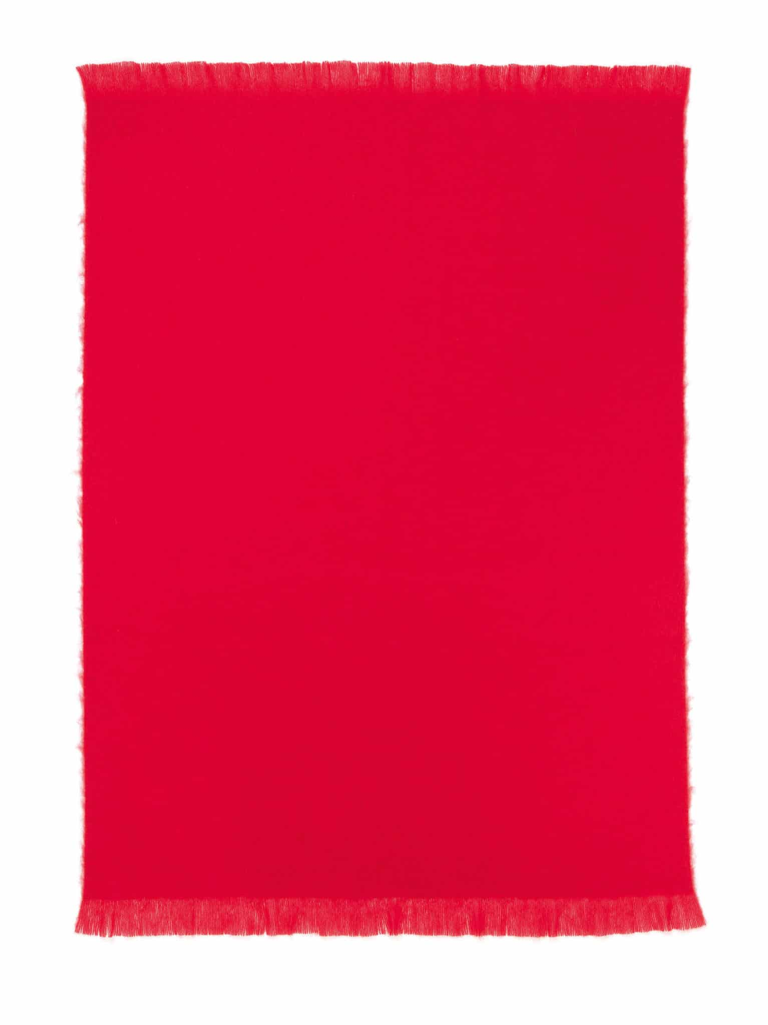 Mohair Throw Rug Ruby Red